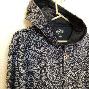 Style & Co Womens Plus Zip-Up Hooded Sweatshirt